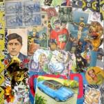 Iniesta Nora - Ceferino - collage - 21 x 31 - 2001