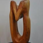 Velo Cristina - Búsqueda - Talla en madera de cedro azul - 80 x 35 - 2000