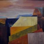 Adler Celia - Construcción - Óleo s/ lienzo - 110 x 100. - 1998