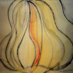 Aguilar Blanca - Curvatura de la linea - Técnica mixta - 40 x 40 - 2006