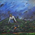 Dowek Diana - Homenaje a J. Venys - Acrílico s/ tela - 30 x 40 - 1990