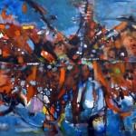Mendieta Roger - Fuego vivo - acrílico s/tela - 100 x 60 - 2005