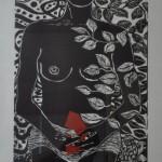 Orellana Juan - Eva en el Jardín de las Artes - 50 x 100 - Grabado 2/10 - 2006