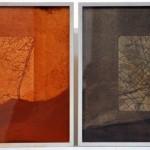 Pereda Teresa - Geo-grafía Díptico - Técnica mixta - 41,5 x 36,5 - 2006