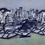 Sansuste Beatriz - La ciudad encadenada - tinta s/papel - 49 x 32