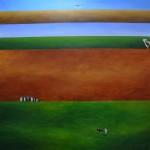 Werthein Ana Lia - Serie Banderas de la Patria - 150 x 150 - Acrílico s/tela - 2008
