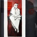 Vaccarezza Cecilia - Sentado - Linografía - 2011 - 35 x 45