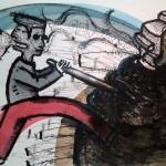 Panosetti Omar - Otra vez ver y no mirar - 50 x 70 - Tinta y acuarela sobre papel - 2014